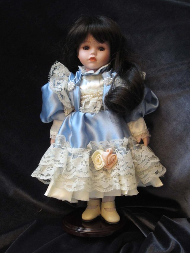 doll wardrobe blue