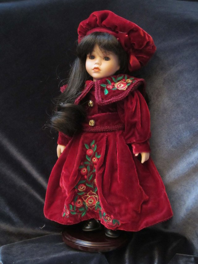 doll wardrobe red