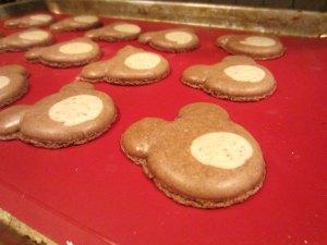 macaron bears baked