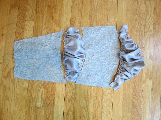 GL sleeve pieces sewn