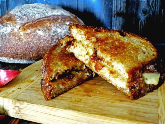 bacon jam sandwich