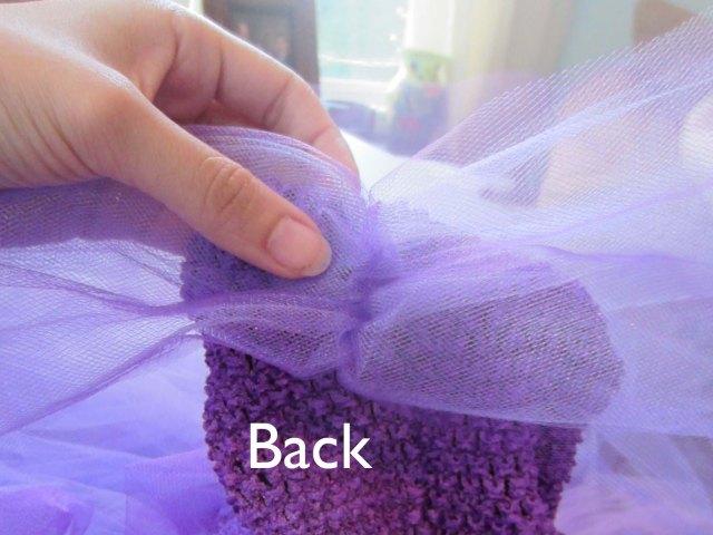 tutu drape back