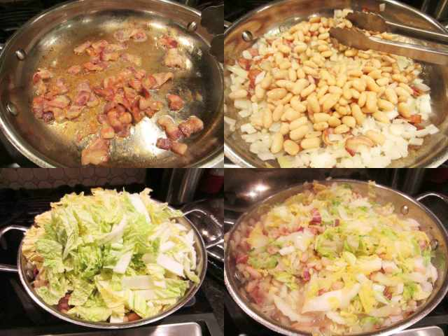 cabbage-pasta-process