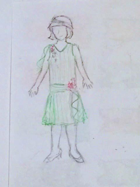 1920s green sketch