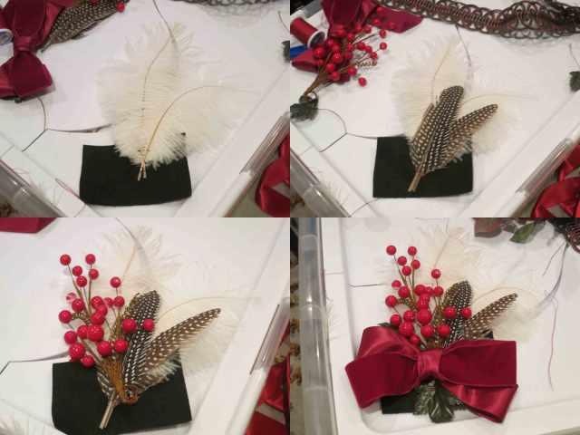 bonnet-feathers