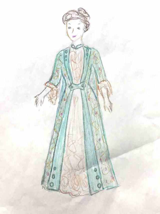 1882 Tea Gown, Part I: Fabric and Sketch | It\'s All Frosting...